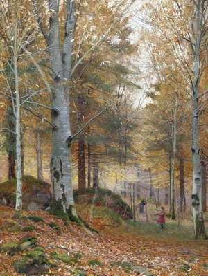 Autumn in the Woods  James Thomas Watts