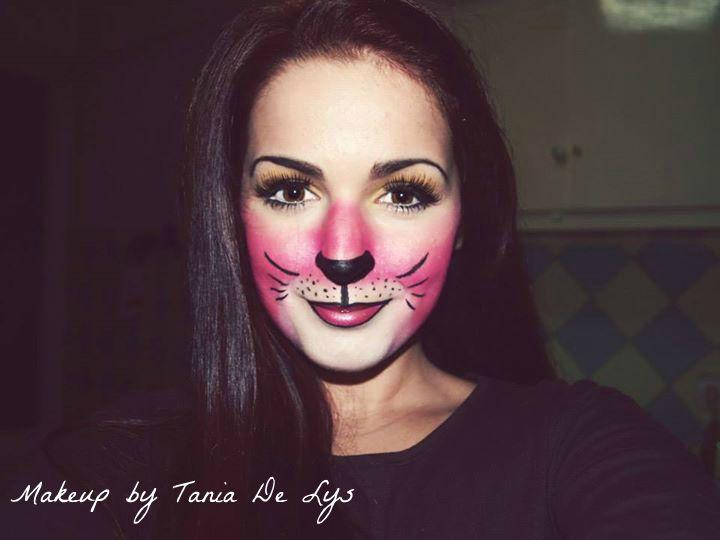 Pink panther makeup