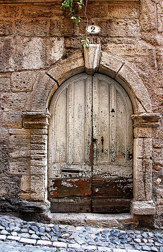 Pezenas - Languedoc - France  ..re, old wooden door, curve, entrance, doorway, beauty, architechture, cracks, weathered, aged, photo
