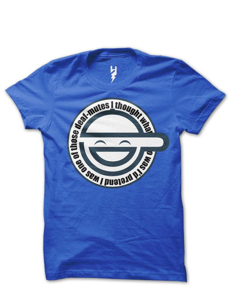 """Laughing Man - Ghost in The Shell from XTEAS  """"I thought what I'd do was, I'd pretend I was one of those deaf-mutes."""" - Hacker from the Ghost In The Shell, Anime Series Tribute T-Shirts  Printed on 100% Organic Cotton, XTEAS Premium Tee."""