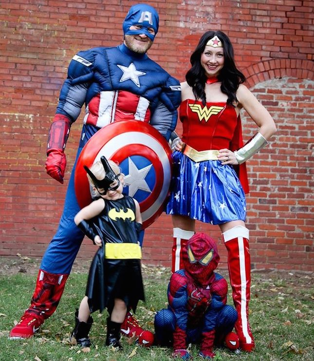 Assemble a squad of superheroes with this DIY Halloween family costume tutorial.