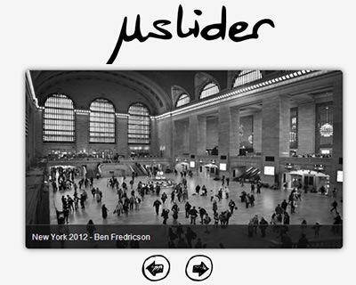 µslider – Responsive jQuery Content Slider