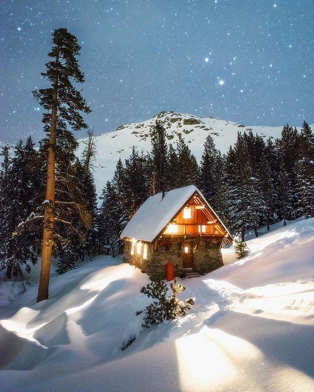 Pear Lake ski hut. Sequoia National Park, CA