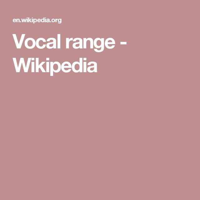 Vocal range - Wikipedia
