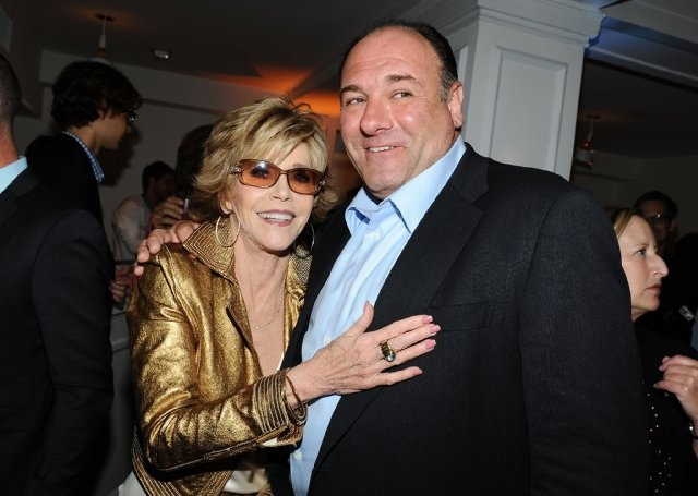 Jane Fonda and James Gandolfini at event of The Newsroom