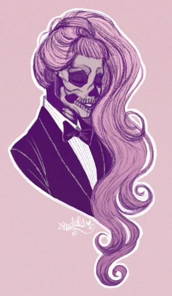 born this way, skull-face gaga