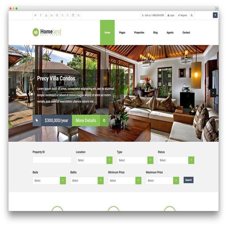 Mejores 136 imágenes de Real Estate WordPress Themes en Pinterest ...