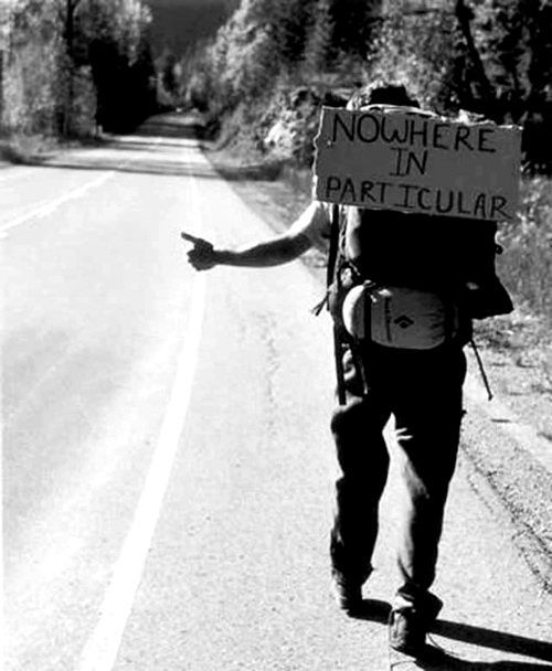 hitch hiking | road to nowhere