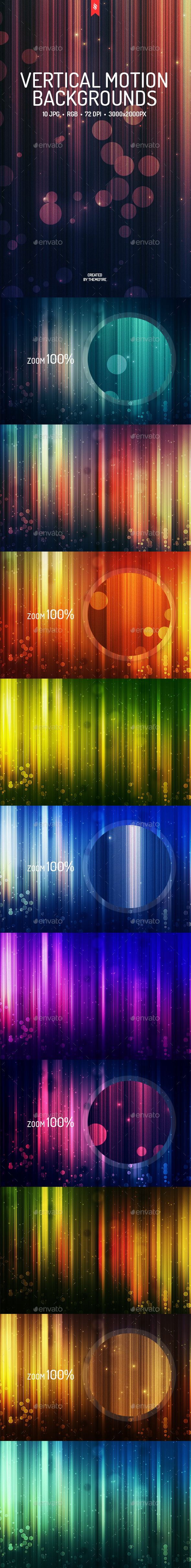 Vertical Motion Backgrounds  #light #desktop #lights • Click here to download ! http://graphicriver.net/item/vertical-motion-backgrounds/15883351?ref=pxcr