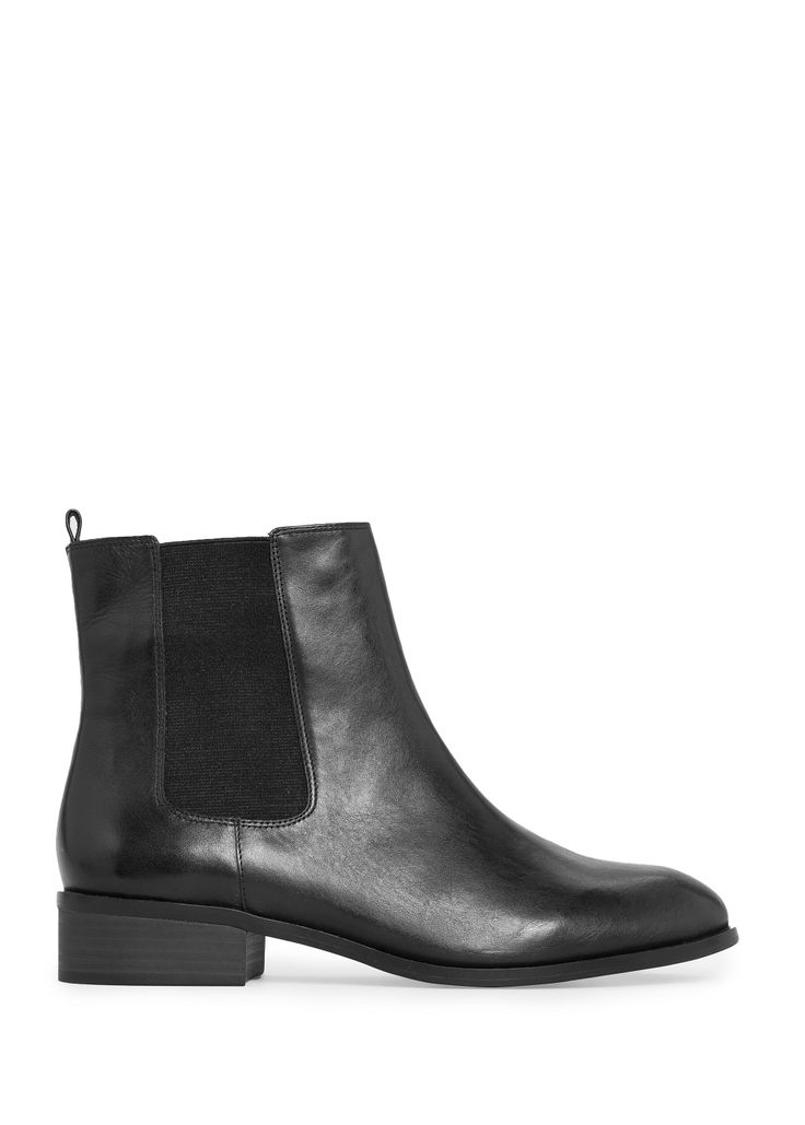 Mango leather chelsea boots