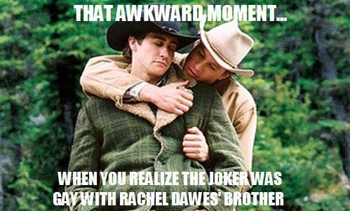 Joker gay with Rachel Dawes' brother
