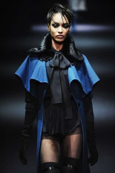 Inspired by Empire Period John Galliano - Fall 2013 Coat layers on shoulders and from lapel similar to Garrick Coat