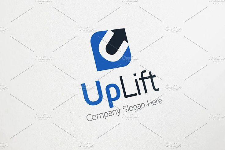 Up Arrow Logo - U Logo by Made by Arslan on @creativemarket