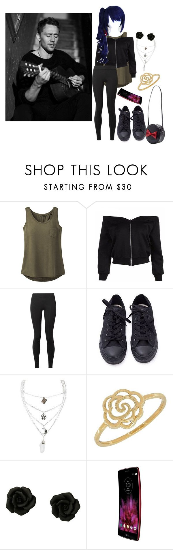 """""""imagine tom hiddleston singing a song to you"""" by cittymotionless ❤ liked on Polyvore featuring prAna, The Row, Converse, Mysticum Luna and Lord & Taylor"""