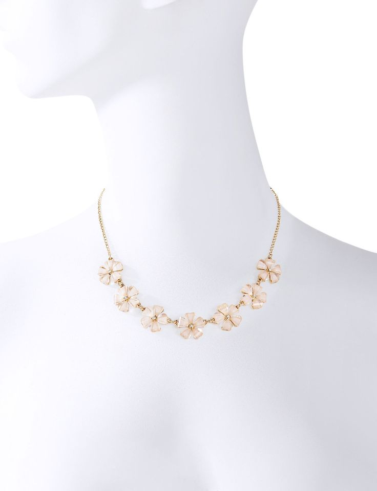 Short Floral Necklace   Women's Jewelry   THE LIMITED