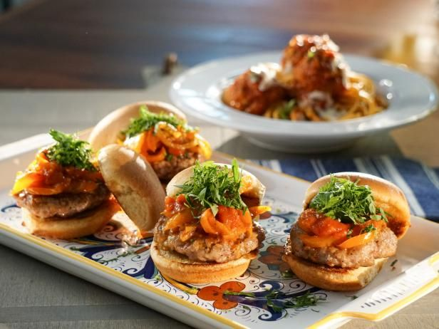 Get Sausage and Pepper Sliders Recipe from Food Network