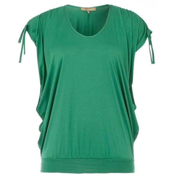 Dark green batwing top (1.040 RUB) ❤ liked on Polyvore featuring tops, shirts, women's clothing, ruched tops, green top, short sleeve tops, shirt tops and green shirt