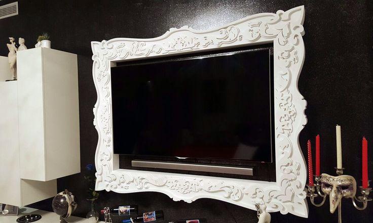 Cornice su misura per televisore LED. Disponibile su www.materik.it #cornicetv #cornicitv #cornicetelevisore