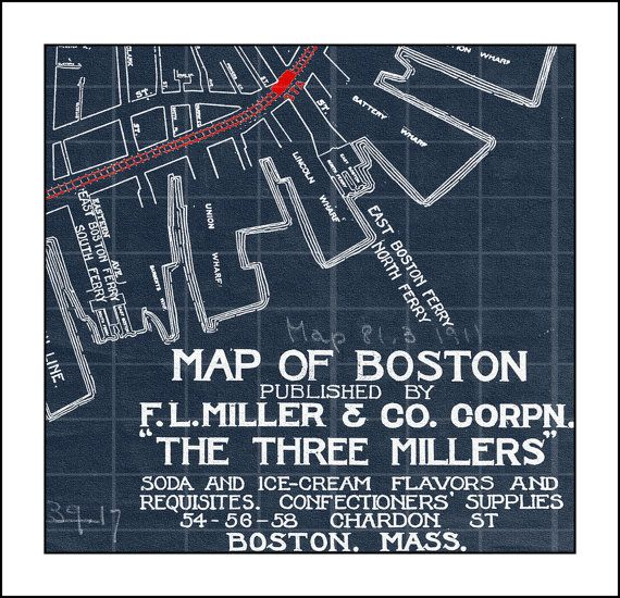 44 best blueprint maps images on pinterest long island rhode map of boston massachusetts blueprint map by watercolormaps2 2500 malvernweather