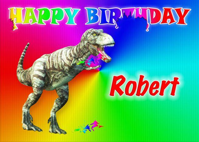 Robert T Rex Birthday Card Eater Card Ad Affiliate Birthday