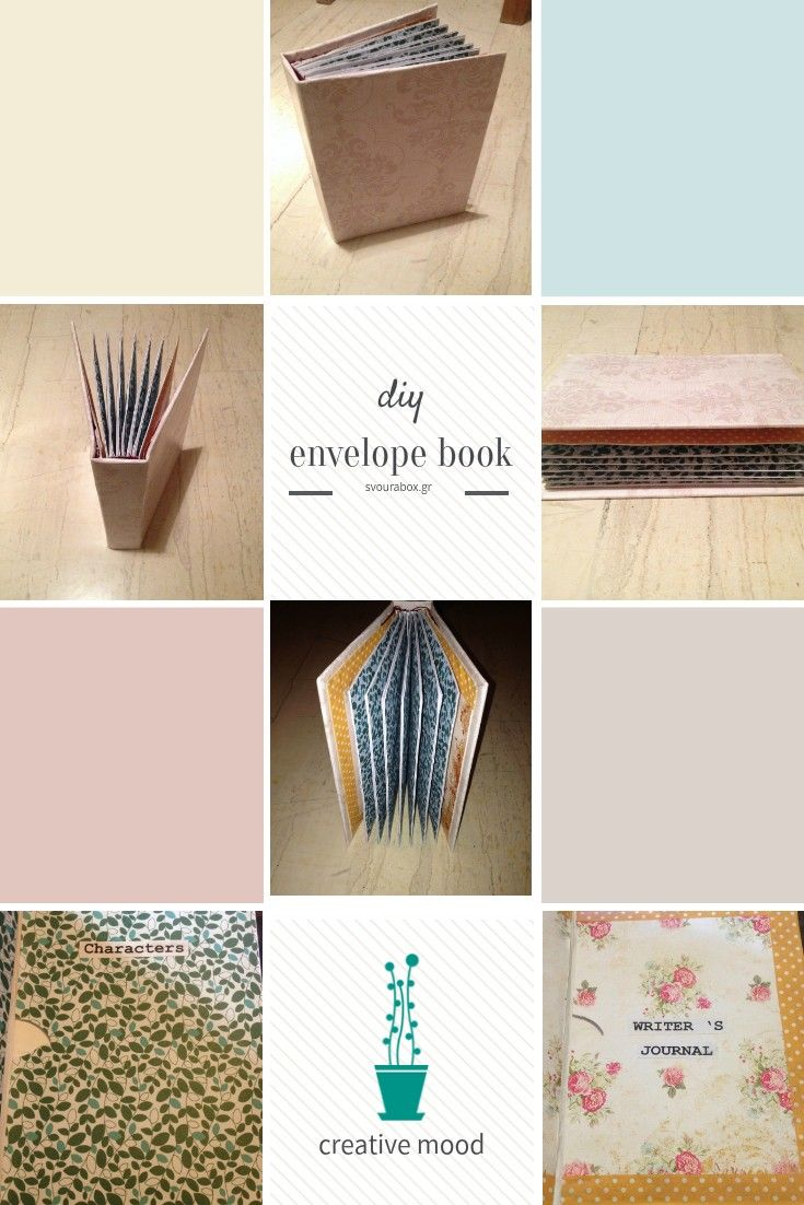 """DIY Envelope Book. I use it as """"Writer 's Journal"""" and store my ideas."""