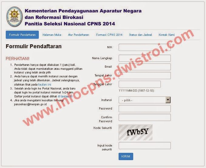 Panduan Cara Pendaftaran CPNS 2014 Secara Online - INFO CPNS 2014  #infoCPNS #cpns2014 #cpns #soalCPNS