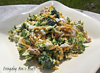Everyday Mom's Meals ~Broccoli Salad~ Taught to me by my grandmother, this is one of my favorite salads of all time. Perfect anytime, but especially for summer time meals.