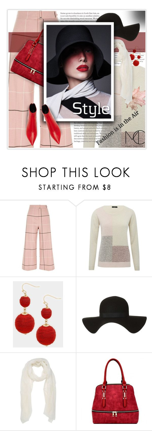 """""""Fashion is in the Air"""" by mcheffer ❤ liked on Polyvore featuring River Island, M&Co, Topshop, Alexandre Birman, hat, booties, mcheffer, marycheffer and marycheffertictail"""