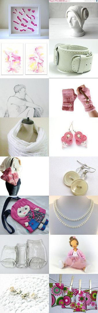 Milky pink... by Nilgun on Etsy--Pinned with TreasuryPin.com