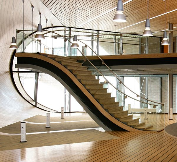 Lovable fabulous mezzanine stairs design modern style teak for Architecture mezzanine