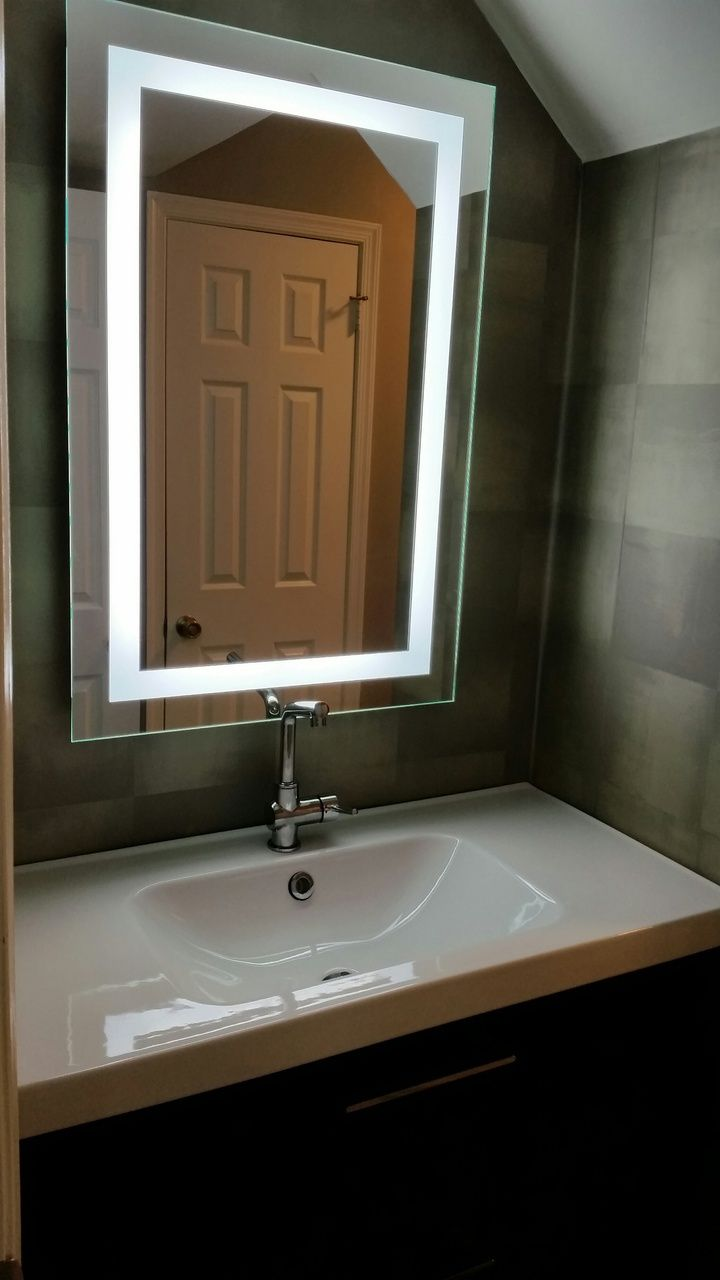 8 best lighted image - led bordered illuminated mirror - large