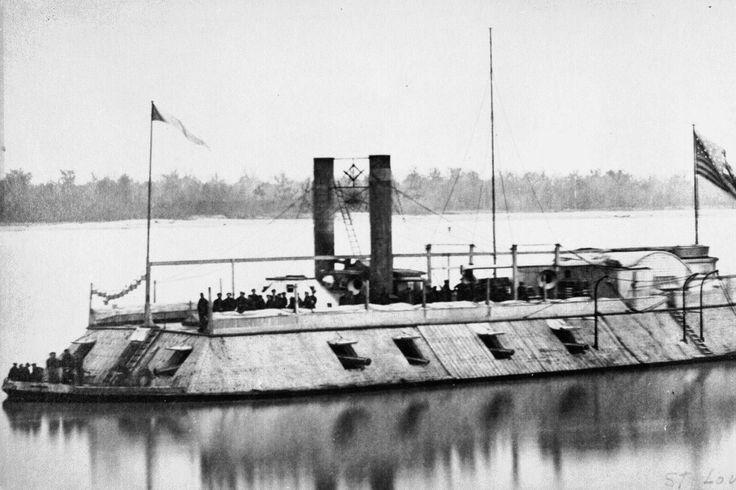 La prima cannoniera corazzata della marina degli Stati Uniti, rinominata il Barone di Kalb. Ottobre 1862.