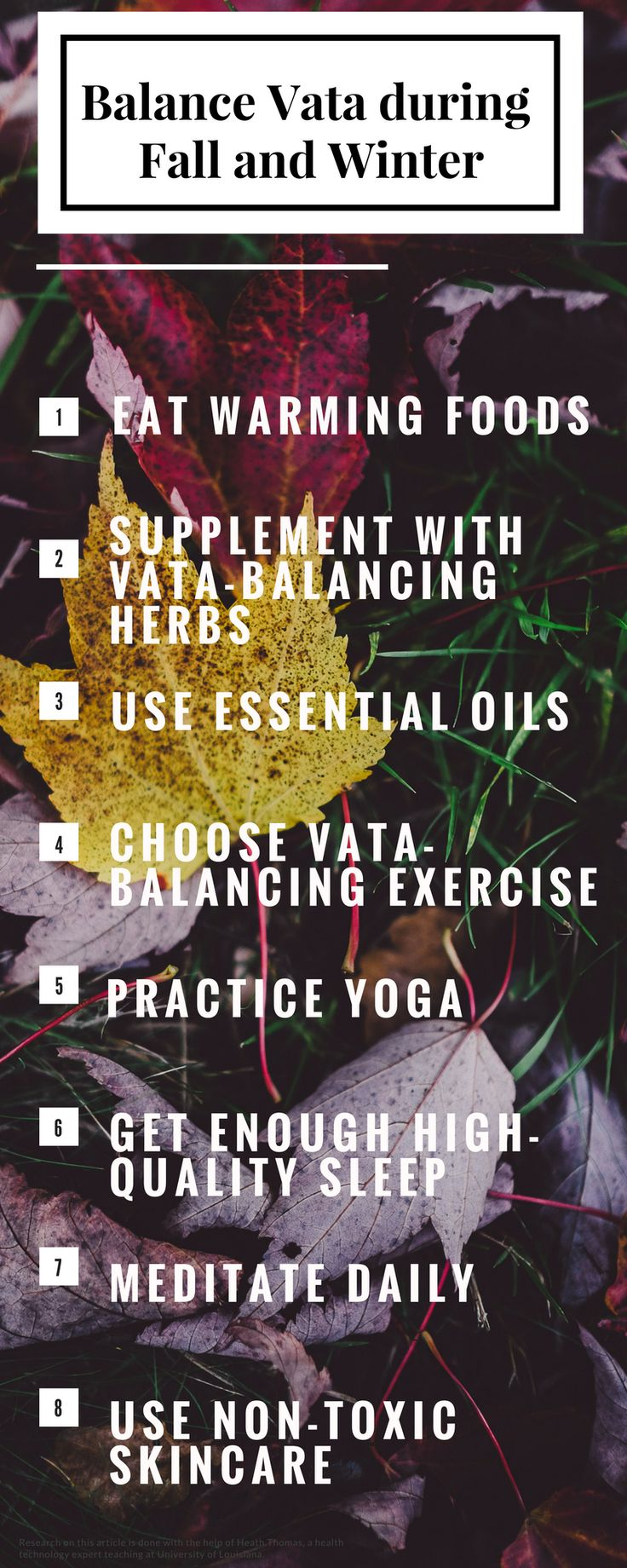 Stay healthy during Fall and Winter by balancing Vata