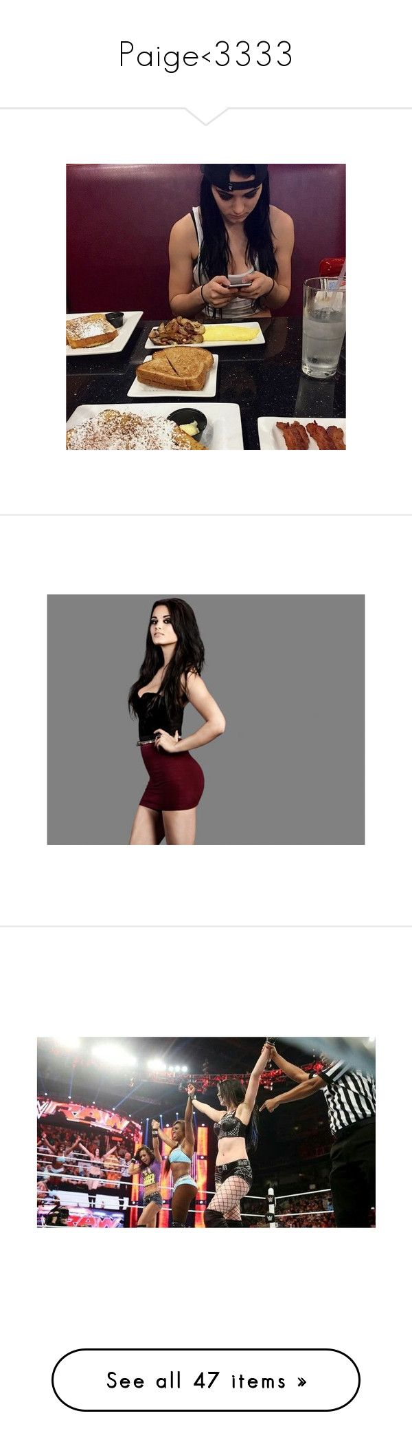 """Paige<3333"" by imblissedoff ❤ liked on Polyvore featuring wwe, divas, paige, tops, wwe tops, accessories, manip, people, wwe diva and aj lee"