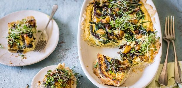 Vegan curried potato and spinach quiche   Food24