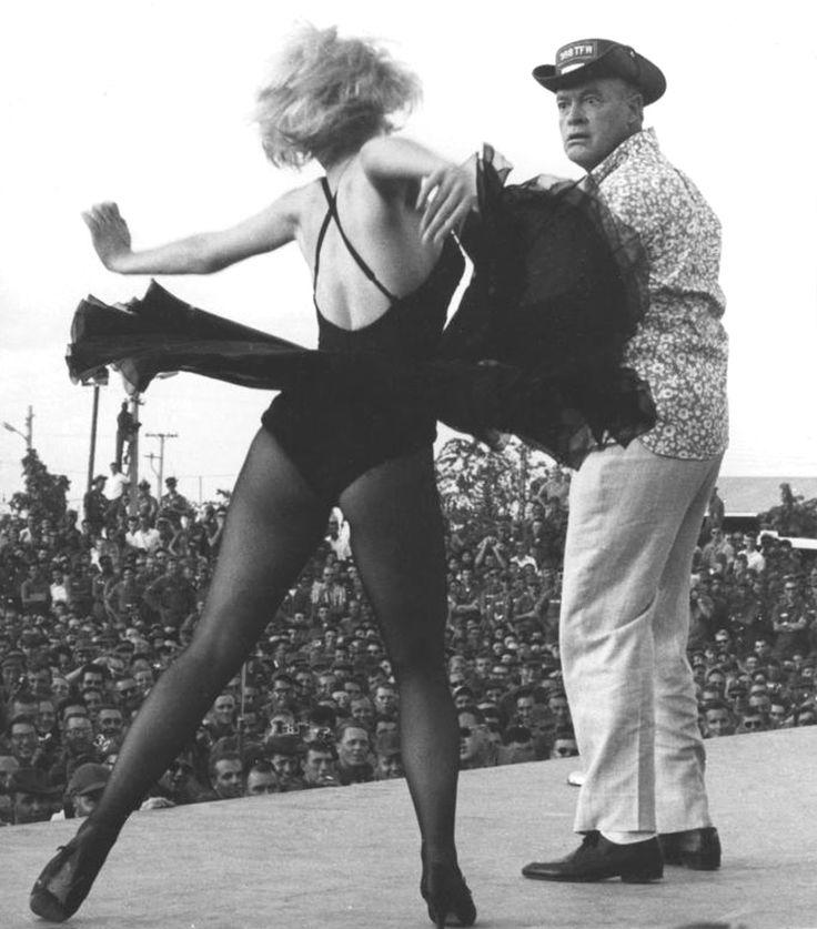 Joey Heatherton & Bob Hope entertaining the troops, Vietnam, 1967