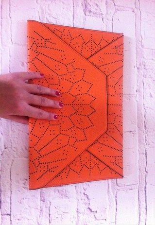 Isla+Orange+Clutch+Bag.