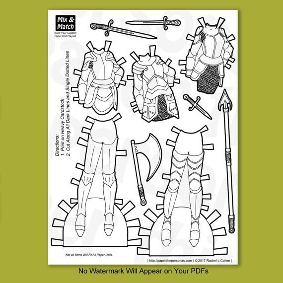 Printable Knight Coloring Page For Children Armor Of God