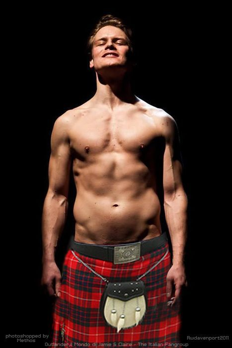 """Sam Heughan: """"You do have to learn how to wear a kilt, and it's certainly very liberating and very freeing, but surprisingly very comfortable to wear, to ride a horse in a kilt. I was surprised by that."""""""
