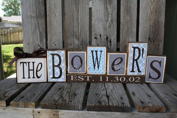 Another cute Family Name in blocks. I need to this for my fireplace mantle! – Home Decor