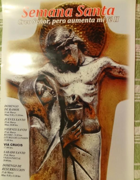 Programa semana Santa, Santuario Cenáculo de Bellavista