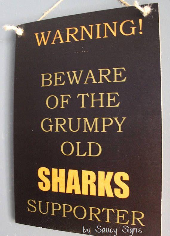 Grumpy Old Cronulla Sharks Rugby League Footy Football Sign