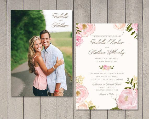 THIS LISTING INCLUDES:  One or Two Sided Wedding Invitation. The $12 fee covers the design of the invitation, as well as the printable high