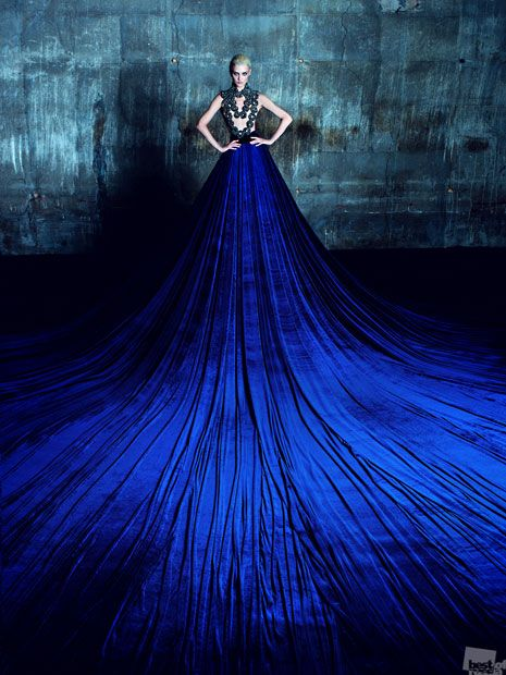 The Best of Russia 2012 photography competition winners. Velvet Falls, by Arthur Mkrtchyan #bluedress