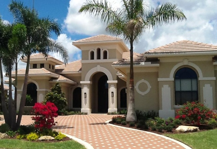 Custom home front elevation in beautiful westpalmbeach for Unique front elevation