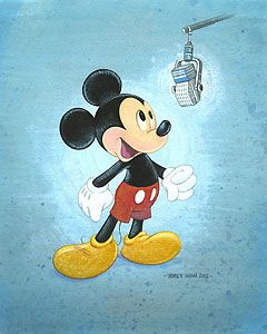 Mickey Mouse - Talks Like a Mouse - Bret Iwan ( the Official Voice of Mickey Mouse ) - World-Wide-Art.com - #mickeymouse #disney #bretiwan
