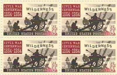 Civil War Battle of the Wilderness Set of 4 x 5 Cent US Postage Stamps #1181 . $8.50. Civil War Battle of the Wilderness Set of 4 x 5 Cent US Postage Stamps #1181