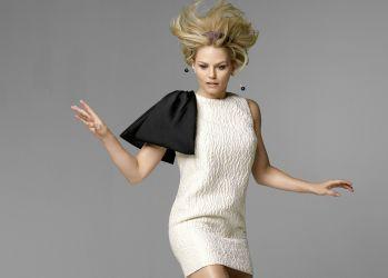 Jennifer Morrison in white dress wallpaper