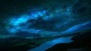 蓝色星光之夜由QAuZ