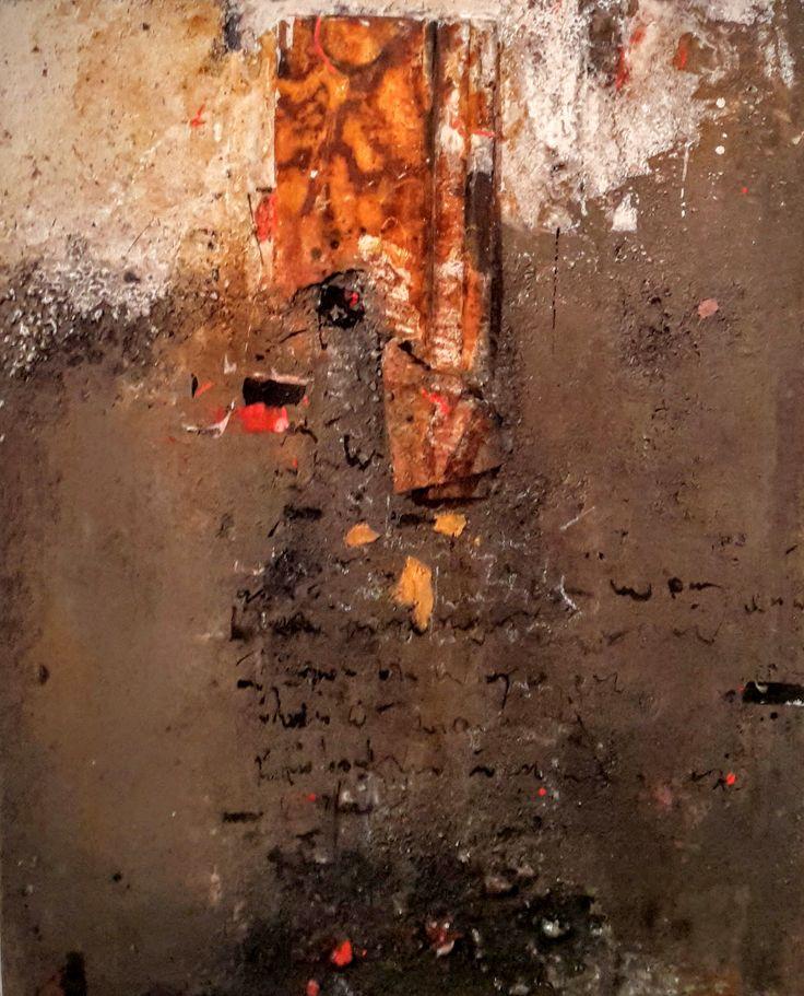 Cendres et mots, peinture de Mehdi Bourkia.